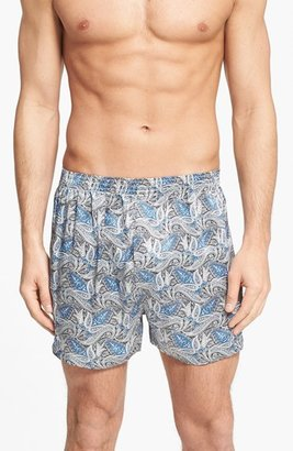 Men's Majestic International Cypress Silk Boxers $50 thestylecure.com