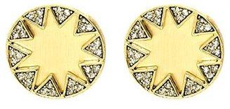 House Of Harlow Earth Metal Sunburst Earrings