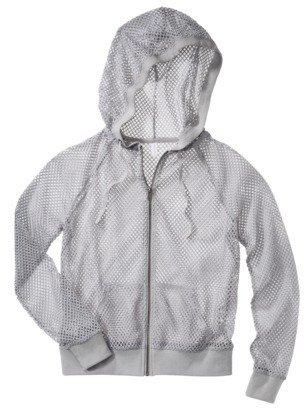 Xhilaration Junior's Mesh Hoodie - Gray