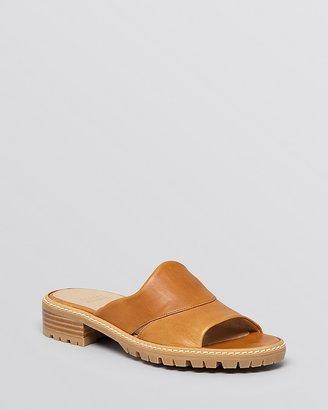 Stuart Weitzman Open Toe Slide Sandals - Citymule