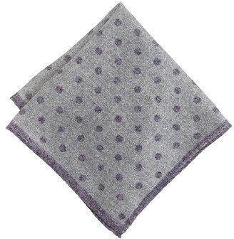 J.Crew Italian heathered wool pocket square in dot