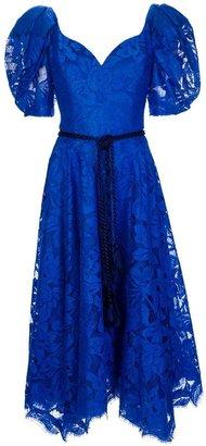 Azzaro Loris Vintage lace puff sleeve dress