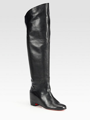 Christian Louboutin Beatriche Leather Over-The-Knee Boots