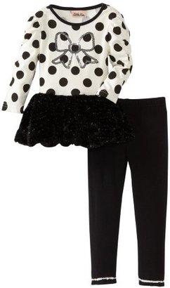 Little Lass Girls 2-6X 2 Piece Dressy Set With Dots