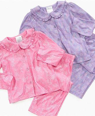 Calvin Klein Kids Set, Toddler Girls Collar Pajama Shirt and Pants