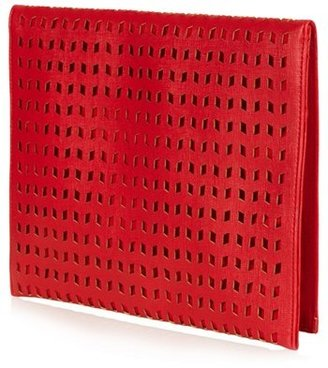 Topshop Perforated Foldover Clutch