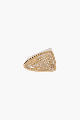 Chloé Gold and Resin triangle Bettina ring