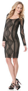A Pea in the Pod BCBG Long Sleeve Lace Maternity Dress