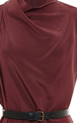 Derek Lam Belted Draped Silk Dress