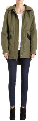 Barneys New York CO-OP Faux Fur Trimmed Hood Anorak
