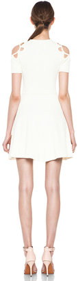Opening Ceremony Tracy Cut Out Dress in Ivory Floret