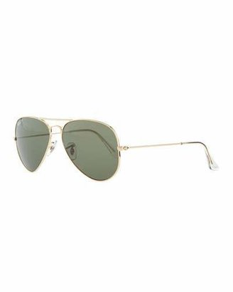 Ray-Ban Original Aviator Polarized Sunglasses, Green $200 thestylecure.com