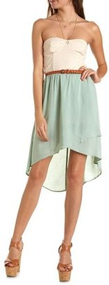 Charlotte Russe HI-Low 2-Fer Tube Dress