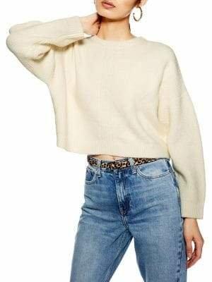 Topshop Super Soft Ribbed Crop Sweater
