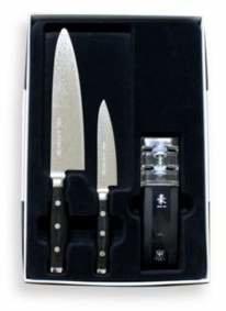 Gingko International Yaxell Damascus Gou Series 3-Piece Knife Set