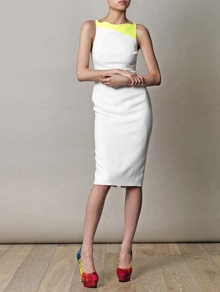 Antonio Berardi Neon panel body-con dress