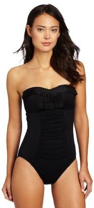 Seafolly Women's Goddess Pleated Bandeau One Piece Swimsuit