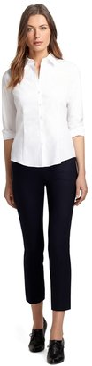 Brooks Brothers Tailored Fit Glass Button Blouse