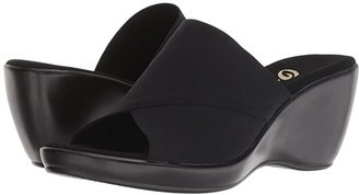 Onex Deena (Black Elastic) Women's Wedge Shoes