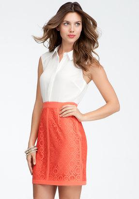 Bebe Circle Lace Skirt Dress