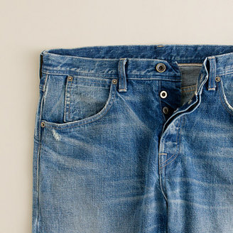J.Crew Wallace & Barnes slim selvedge jean in salt fade wash