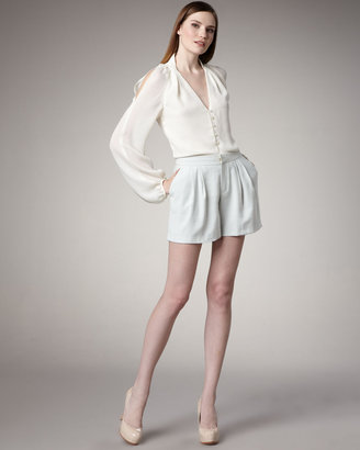 Rachel Roy Modern Pleated Suiting Shorts