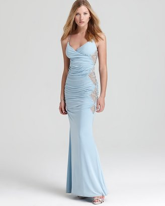 Mignon Gown - Ruched Crystal Straps