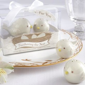 """Feathering the Nest"" Ceramic Birds Salt & Pepper Shakers"