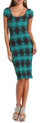 Charlotte Russe Crisscross Back Cotton Midi Dress