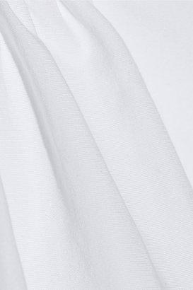 Marni Asymmetric pleated cotton-blend peplum top