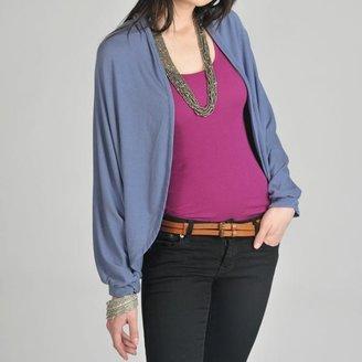 24-7 comfort apparel 24/7 Comfort Apparel Women's Blue Dolman Sleeve Cardigan $38.49 thestylecure.com