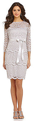Marina Floral Lace Ribbon Tie Dress $119 thestylecure.com