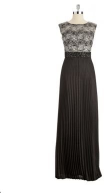 Kay Unger Sleeveless Gown With Pleats