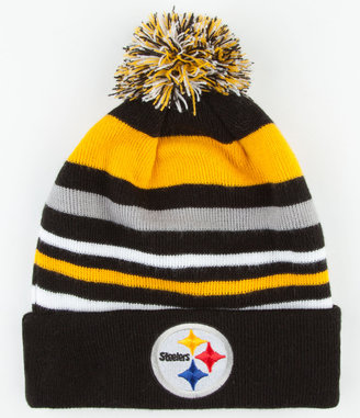 New Era Stripe Out Steelers Beanie