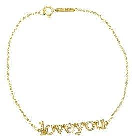 Jennifer Meyer Yellow Gold Diamond Loveyou Bracelet