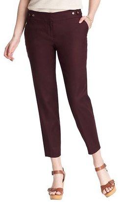 LOFT Petite Marisa Ankle Pants in Stretch Linen Cotton
