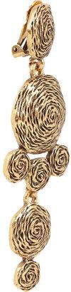 Oscar de la Renta Swirl gold-plated clip earrings