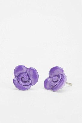 Urban Outfitters Diament Jewelry For Urban Renewal Enamel Flower Stud Earring