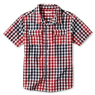 JCPenney Joe FreshTM Red Short-Sleeve Woven Shirt - Boys 4-14