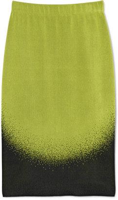 Lucas Nascimento Ombre Jacquard Slip Skirt