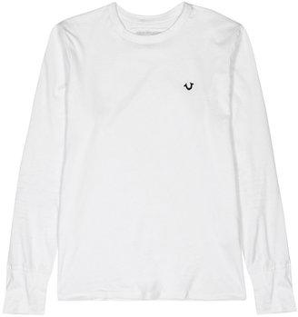 True Religion White Metal Logo Cotton Top