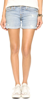 True Religion Jayde Boyfriend Shorts $178 thestylecure.com