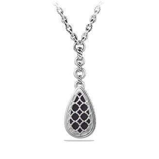 David Yurman Anjou Necklace with Black Orchid and Diamonds