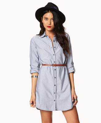 Forever 21 Essential Shirt Dress w/ Belt