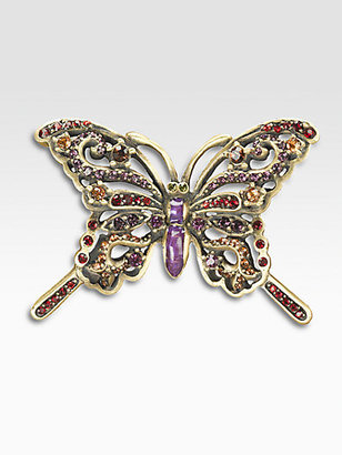 Jay Strongwater Crystal Butterfly Pin