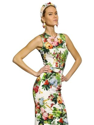 Dolce & Gabbana Printed Silk Charmeuse Top