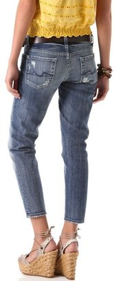 7 For All Mankind Roxanne Cropped Skinny Jeans