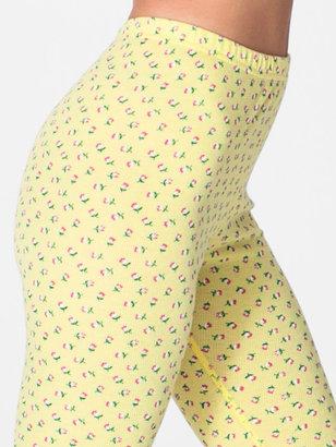 American Apparel Floral Print Thermal Legging