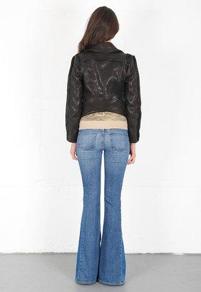 Faith Connexion + Isabeli Fontana Rush Leather Perfecto Jacket in Black -