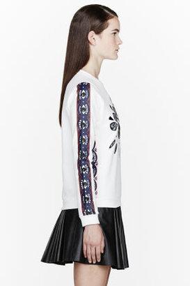 Kenzo White Big Eye patterned sweatshirt
